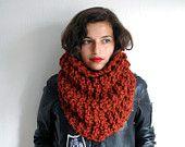 The Manhattan Cowl Hand Knit in Autumn Spice Wool Blend