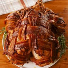 Bacon-Wrapped Turkey Is Jaw Dropping Good - Upsetting how good it is Turkey Bacon Recipes, Whole Turkey Recipes, Chicken Recipes, Bacon Wrapped Turkey, Tasty Videos, Food Videos, Holiday Recipes, Dinner Recipes, Christmas Turkey