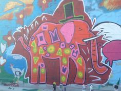 Elephant street art, by Keeping It Real in El Paso, TX. Really creative stuff! Check out the rest of his collection on Instagram http://instagram.com/ewhatever and Facebook http://facebook.com/KeepingItReals