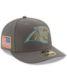 New Era Carolina Panthers Salute To Service Low Profile 59FIFTY Fitted Cap  - Green 7 3 2467f5e9d9c