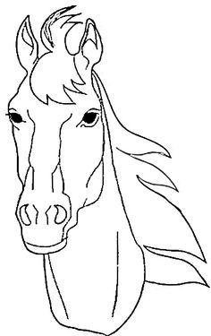 Line drawing of a horse, of course!