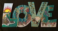 Mermaid Love Sign  Boho Love Sign  Mermaid Love Tale