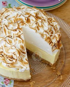 new! NoBake Lemon Meringue Cheesecake! A Buttery Biscuit Basehellip