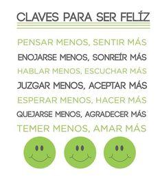 Claves Para ser #Feliz #positivo #optimismo e ilusión!