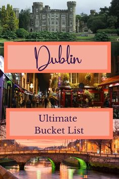 Planning a trip to Ireland? Here's the ultimate list of things to do and see in Dublin, Ireland. Ireland Travel Guide, Dublin Travel, Paris Travel, Travel Europe, European Travel Tips, European Destination, Dublin Ireland, Ireland Map, Dublin Things To Do