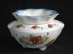 African Violet Pots   Red Riding Hood Hull Poppy African Violet Pot - StoryBook Ceramics -Very pretty pot.