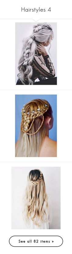 """Hairstyles 4"" by rroyalserena ❤ liked on Polyvore featuring hair, hairstyles, beauty products, haircare, hair styling tools, vikings, beauty, cabelos, filler and braid"