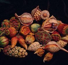 Doreen Kassel, polymer clay decoration - Nature & Organics