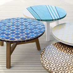 The Mosaic Tiled Coffee Table from West Elm is Artfully Bold #backyard #furniture trendhunter.com