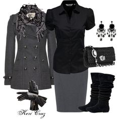 """New York Winter"" by keri-cruz on Polyvore"