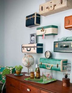 Suitcase wall. Interesting.