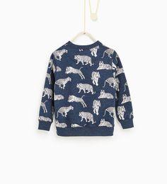 Sweat-shirt à tigres-SWEAT-SHIRTS-GARÇON   4-14 ans-ENFANTS   ZARA Belgique