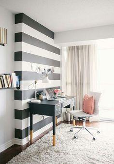 Righe orizzontali black & white