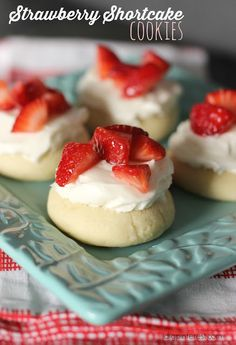 Tempting Strawberry Shortcake Cookies on MyRecipeMagic.com