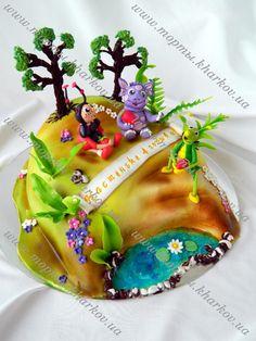 Торт детский Лунтик и его друзья