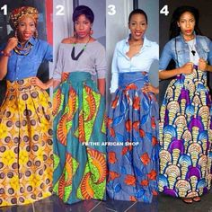 Gorgeous skirts from The African Shop FB page.= love the shape of these African Print Skirt, African Print Dresses, African Fabric, African Dress, African Prints, Ankara Fabric, African Inspired Fashion, African Print Fashion, Africa Fashion