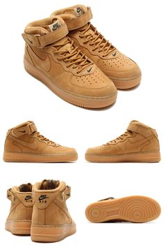 online retailer b06e0 38ce2 Nike Air Force One Wheat Nike Wedges, Nike Heels, Sneakers Nike, Adidas  Shoes