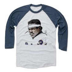 Walter Payton Face Sketch B Chicago Officially Licensed Baseball T-Shirt Unisex S-3XL