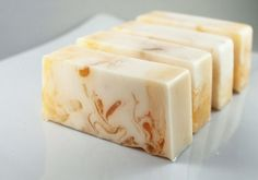 Honey Almond all natural Handmade Soap by MilkAndHoneyNaturals.