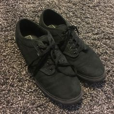 Black Atwood Vans (Final Price Reduction) Used Gently, Size 10. See pics for condition. Vans Shoes Sneakers
