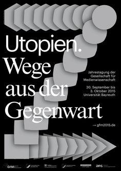 """""""utopien. wege aus der gegenwart"""" by hagen verleger / germany, 2015 / offset, 420 x 594 mm"""