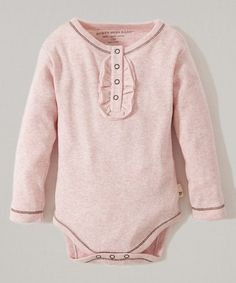 Take a look at this Blossom Heather Organic Henley Bodysuit - Infant on zulily today!
