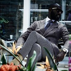 36c00dc169a Print pants and tie with that grey suit on lock