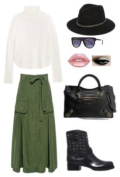 """""""Classy and cozy"""" by einatv on Polyvore featuring Valentino, Marissa Webb, Chloé, Balenciaga, Thierry Lasry, ASOS and Lime Crime"""