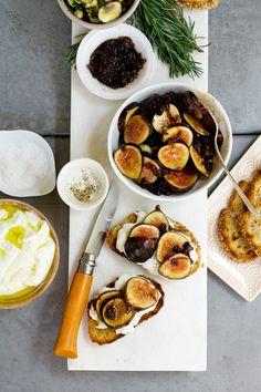 Burrata and Agrodolce Fig Crostini Recipe   http://saltandwind.com   @saltandwind