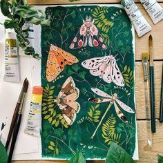Gouache - Alles Over Schilderen Sketchbook Inspiration, Painting Inspiration, Art Inspo, Art And Illustration, Painting Illustrations, Gouache Painting, Painting & Drawing, Kunst Inspo, Posca Art