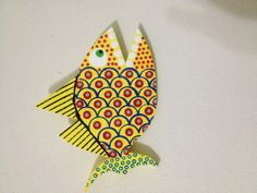 Hand Painted Wooden Fish by AquaticShop on Etsy, $20.00