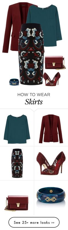 """Fav colours"" by molly2222 on Polyvore featuring Theory, MANGO, A.L.C., Dolce&Gabbana, Mark Davis, Yves Saint Laurent and pencilskirt"