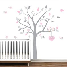 Nursery Wall Decals Tree With Custom Name Decal by Modernwalls, $99.00