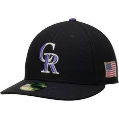 Colorado Rockies New Era Authentic Collection On-Field US Flag 59FIFTY Fitted Hat - Black - $28.99