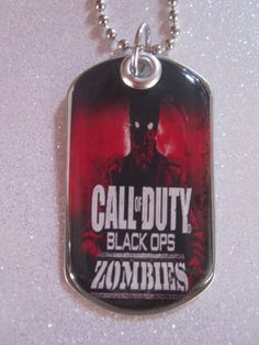 Call of Duty Black Ops Zombie dog tag necklace by Bjeweledparties, $8.00