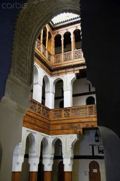 The Nejjarine Museum, restored to show the history of wood craft, in the medina of Fes, Morocco