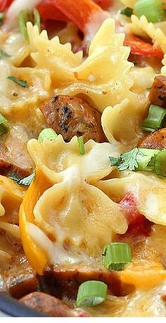 One Pot Cheesy Sausage And Peppers Pasta - Casserole Recipes - Casserole Recipes Pasta Casserole, Easy Casserole Recipes, Casserole Dishes, Chicken Casserole, Sausage Casserole, Cowboy Casserole, Stuffed Pepper Casserole, Sausage And Peppers Pasta, Cheesy Sausage Pasta