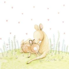 Illustration baby fawn