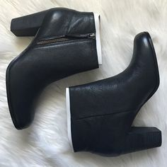 "Cole Haan black booties Black booties that are perfect with jeans or a dress. Davenport bootie II. Cole haan tends to run a tab small and narrow. Heel 3"". Offers welcome through offer tab. No trades. 1510161431 Cole Haan Shoes Ankle Boots & Booties"
