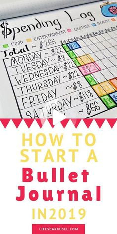 How to start a bullet journal in 2020 for complete beginners. This guide will help you start a bullet journal with awesome bullet journal ideas for beginners. Bullet Journal Work, Bullet Journal For Beginners, Bullet Journal How To Start A, Bullet Journal Layout, Bullet Journal Inspiration, Blogging For Beginners, Blogging Ideas, Journal Ideas, Bullet Journals