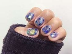 เจ้าชายน้อย น่ารักอ่า Star Nails, Glitter Nail Art, Blue Nails, Little Star, Beauty, Blue Nail, Beauty Illustration, Royal Blue Nails