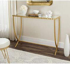 Find Safavieh Home Collection Princess Mirror Top Console Table, Gold online. Shop the latest collection of Safavieh Home Collection Princess Mirror Top Console Table, Gold from the popular stores - all in one Sofa End Tables, Entryway Tables, Entryway Console, Console Tables, Gold Table, Home Collections, Living Room Furniture, Gold Furniture, Room Decor