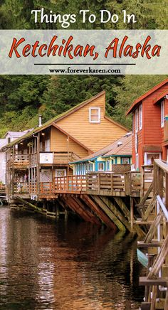 Do you have one day in Ketchikan on your Alaska cruise? Spend a day walking through this picturesque Alaska town. Be sure to visit Creek Street, the Totem Heritage Center, Saxman Native Village and maybe try some salmon fishing? Cruise Excursions, Cruise Travel, Cruise Vacation, Vacations, Ketchikan Alaska, Alaska Cruise Tips, Alaska Travel, Alaska Trip, Holland America Alaska Cruise