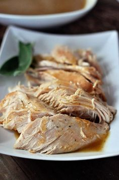 Mel's Kitchen Cafe | Slow Cooker Turkey with No-Fuss Gravy {Simple Thanksgiving Solution}