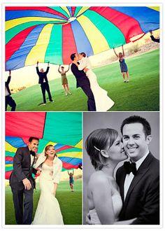 Parachute Wedding Photo So Cool