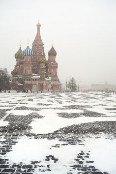 Winter is back to Moscow - Moscow, Russia