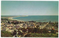 Ventura before Highway 101 bisected it, ca. 1950s
