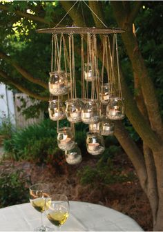 baby food jars with candles inside-Lighting Garden
