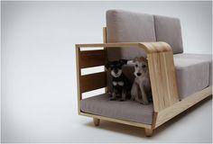 cadeau de noël pour chiens - canapé niche