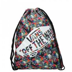 GYMSACK VANS BENCHED RAINBOW FLORAL